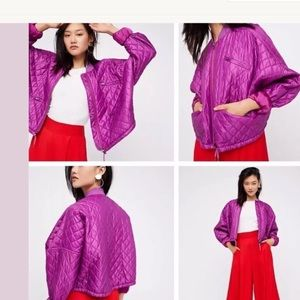 NEW Free People Quilted Drawstring Bomber Jacket